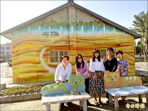 雲林縣府、螺陽文教基金會及埤頭社區結合地方藝術家打造全縣第一座立體繪本公園。 (記者黃淑莉攝)