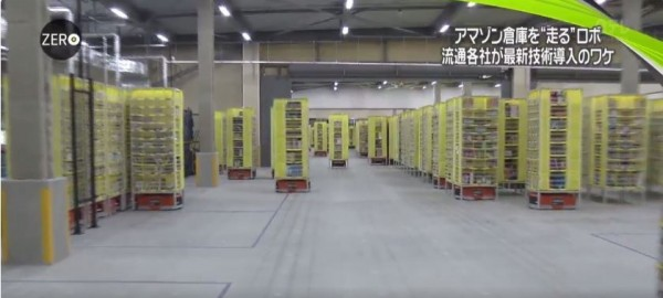 知名購物網站的物流中心已全面使用機器人管理貨物。(圖擷自推特)
