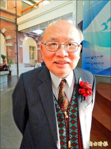 台灣文學獎長篇小說金典獎,得主陳耀昌出身醫界,跨文學界創作。(記者洪瑞琴攝)