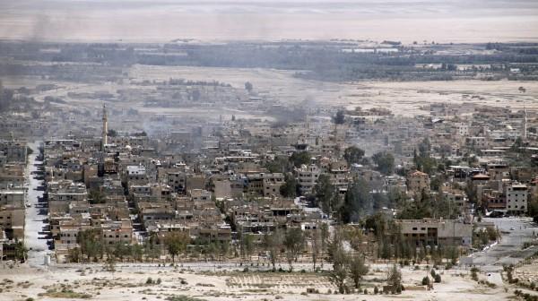 IS今年三月才被逐出敘利亞古都帕邁拉,沒想到時隔9個月,IS再度進佔帕邁拉。(歐新社)