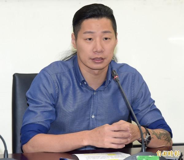 林昶佐昨與葉望輝,暢談台美關係,他也向葉望輝介紹台灣年輕一輩「天然獨世代」對台美關係的看法。(資料照,記者黃耀徵攝)
