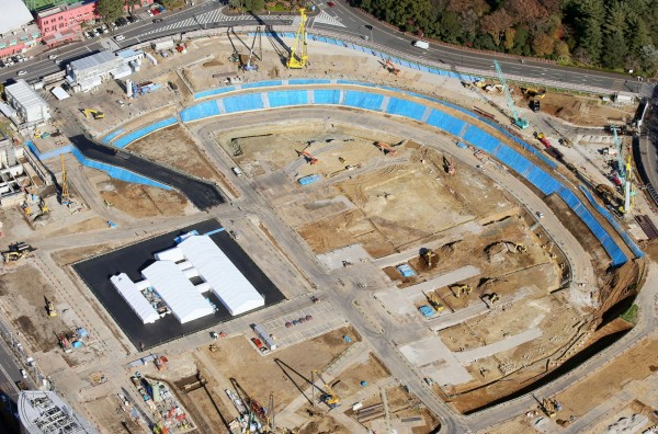 2020東京奧運主場館新國立競技場今日舉行動工儀式。(路透)