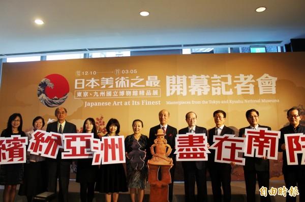國立故宮博物院、日本東京國立博物館、九州國立博物館共同舉辦的「日本美術之最—東京、九州國立博物館精品展」。(記者林宜樟攝)