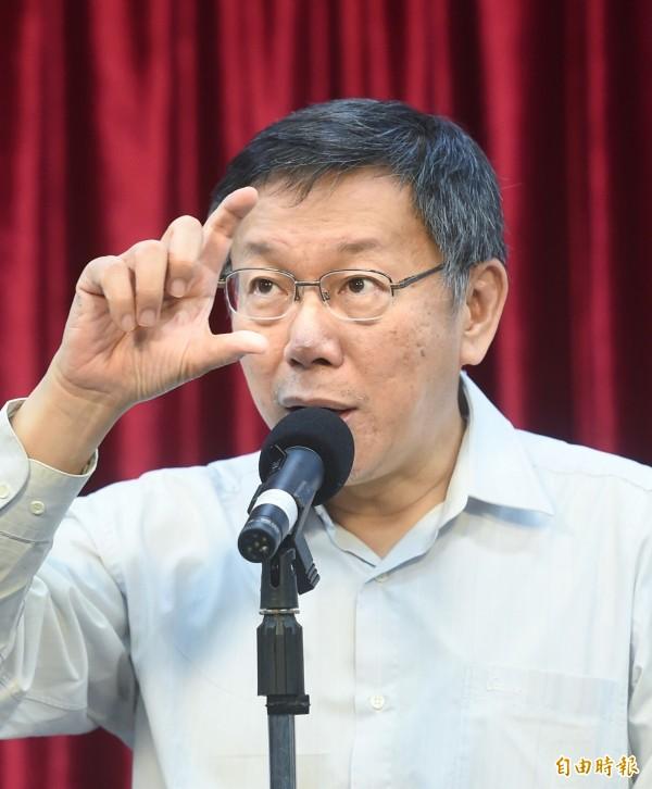 港獨人士被台灣統派攻擊,柯P表示,一定嚴辦!(記者方賓照攝)