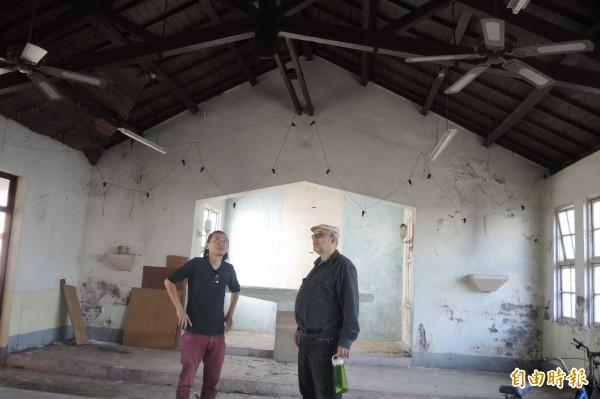 教堂閒置多年,預定明年2月動工修復。(記者楊金城攝)