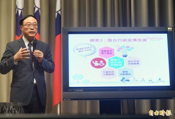 民進黨立委葉宜津等17人提徵收觀光保育費,觀光局長周永暉表示支持。(資料照,記者方賓照攝)
