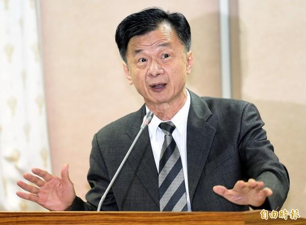 針對有外媒報導指稱,包含中國警方在全球各地逮獲的詐欺嫌犯在內,多達4500名詐騙嫌犯是來自台灣,法務部今回應指報導與事實不符。圖為法務部長邱太三。(資料照,記者朱沛雄攝)