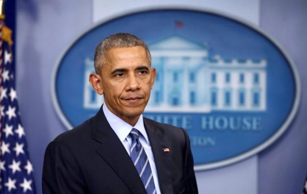 美國總統歐巴馬在白宮記者會上發表針對美中台三方關係談話,並提到他認為台灣不去改變現狀就「不會宣布獨立」。(路透)