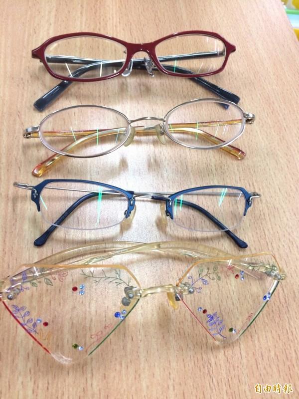 新生醫專視光科學生參加全國眼鏡設計與製作競賽,表現亮眼。(記者李容萍攝)