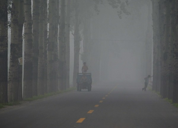 中國石家莊PM2.5數值突破1000。(示意資料照,路透)