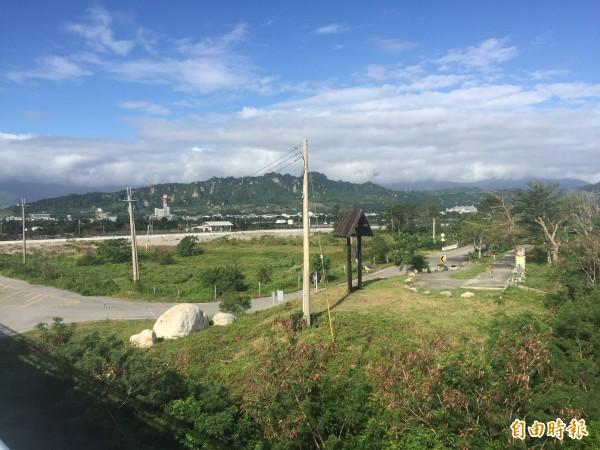 台東大橋旁將設地質及環境教育園區。(記者張存薇攝)