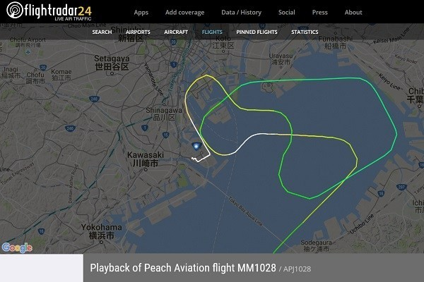 樂桃航空編號JA811P班機當地時間今天凌晨傳出差點降錯跑道,所幸無人因此受傷。(圖擷自traicy.com)