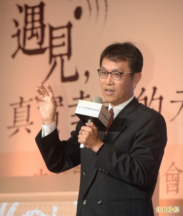 中華電信基金會董事張朝棟。(記者黃耀徵攝)