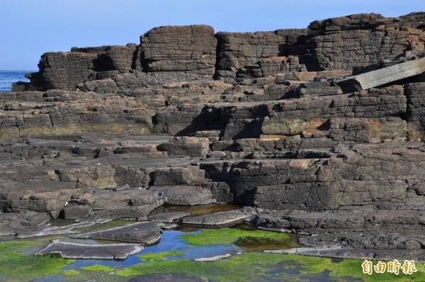 澎湖以玄武岩為主題,景觀改善年將致力於保存自然景觀。(記者劉禹慶攝)