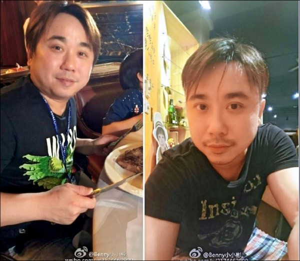 小彬彬因鬧婚變,2個月暴瘦14公斤。 (記者劉慶侯翻攝自微博)