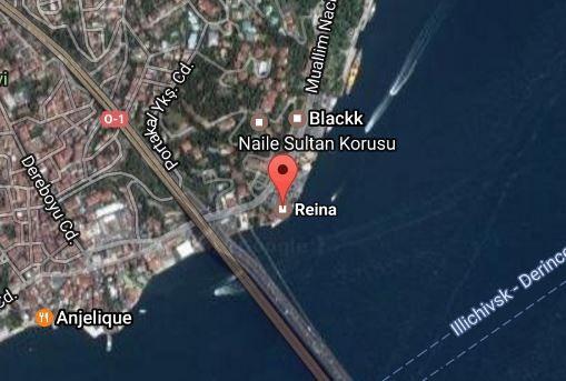 事發的夜店Reina位於伊斯坦堡貝西克塔斯地區,據傳目前持槍歹徒仍在夜店內,土國特種部隊正準備要強行攻堅。(圖截自網路)