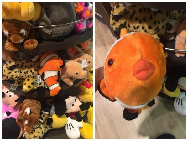 照片中的尼莫玩偶的模樣相當怪異,與尼莫本尊相差甚遠。(擷取自Dcard)
