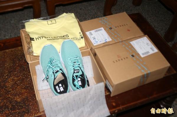 雲林燈會馬拉松贈品已陸續寄送到參賽者家中。(記者詹士弘攝)