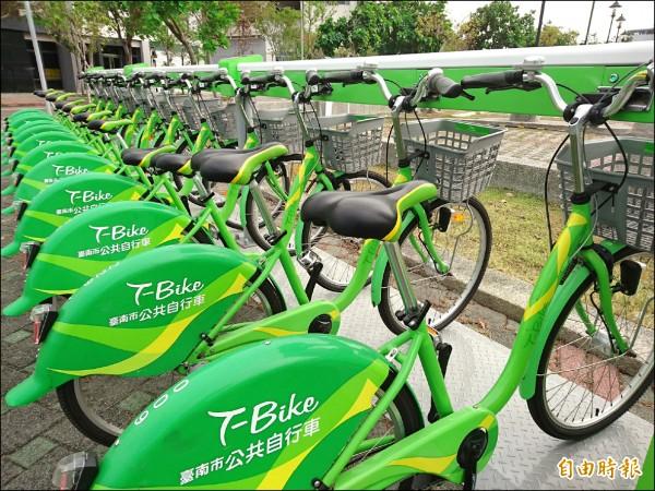 台南T-Bike預計今年擴充至50個站點,農曆年前則會先在市區、古蹟周邊設置10站,方便遊客過年騎單車漫遊。(記者洪瑞琴攝)