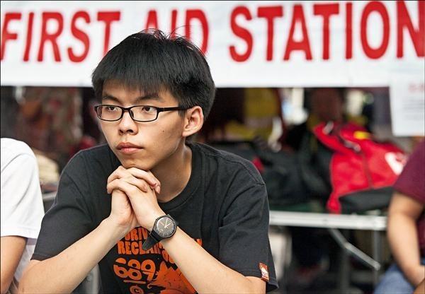 香港社運人士黃之鋒。(歐新社)