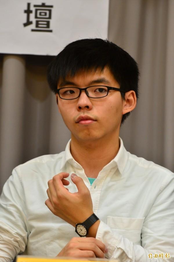 時代力量舉行「時代眾志 自覺力量:台港議員論壇」,香港眾志秘書長黃之鋒。(記者王藝菘攝)