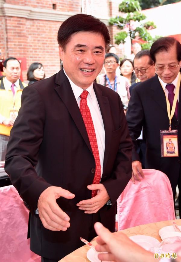 國民黨副主席郝龍斌昨日宣布參選黨主席,今日承諾若當上黨魁,將不會參選2020總統。(資料照,記者簡榮豐攝)