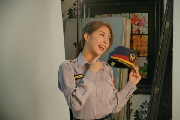 藝人NONO辜莞允受邀擔任警政治安代言人。(記者姚岳宏翻攝)