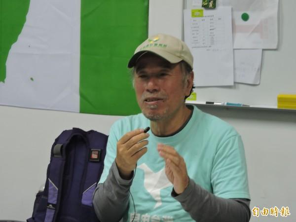 蔡丁貴因拉下孫文銅像被判拘役,他表示選擇坐牢是為了彰顯中華民國是流亡政府。(記者蘇金鳳攝)