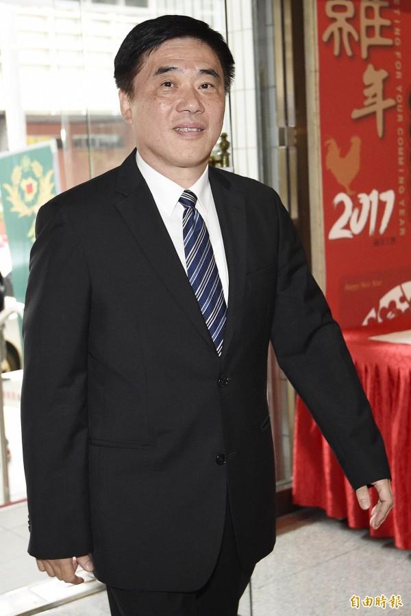 國民黨副主席郝龍斌在前副總統吳敦義宣布參選黨主席後,認為黨員可獲比三家。(資料照,記者陳志曲攝)
