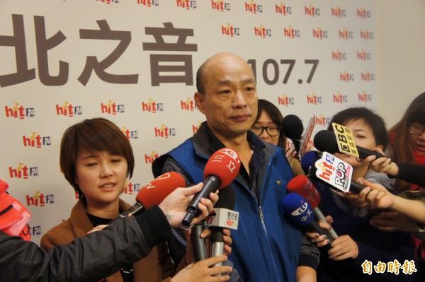 台北農產運銷公司總經理韓國瑜今將遞出請辭信。(記者黃建豪攝)
