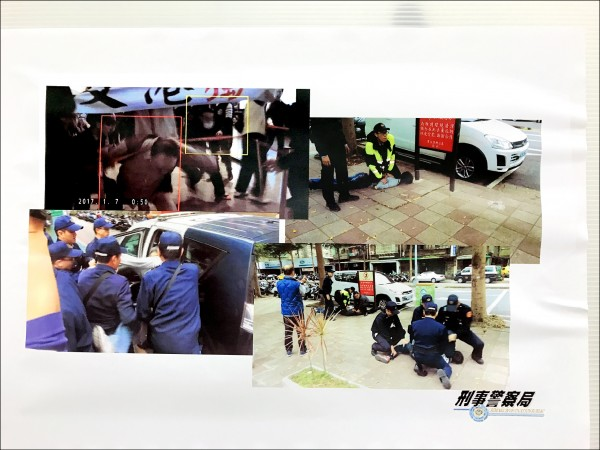 香港人士來台遭滋擾,警方公布逮捕蒐證畫面。(記者黃敦硯翻攝)