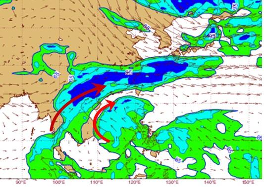 吳德榮表示,週五起影響台灣的濕冷大陸冷氣團,週日後若氣溫與水氣搭配得宜,高山飄雪是可以期待的。(圖擷自「洩天機教室」專欄)
