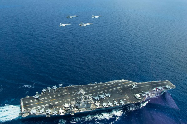 美軍為因應國際局勢變化和中國解放軍在西太平洋的擴張,研擬出「新海洋控制」大戰略。圖為美軍卡爾文森號航空母艦。(法新社資料照)
