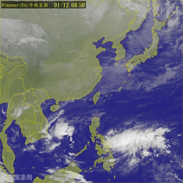 氣象專家吳德榮指出,受到大陸冷氣團南下影響,週六、週日將會非常濕冷。(圖擷取自中央氣象局)