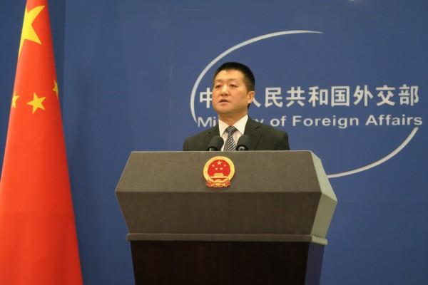 中國外交部發言人陸慷。(中央社)