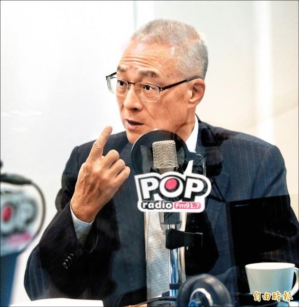 民黨黨主席參選人、前副總統吳敦義。(記者林正堃攝)