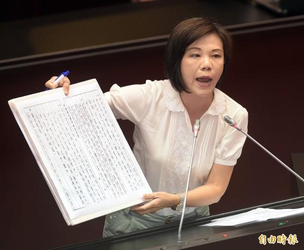 民進黨立委葉宜津。(資料照,記者黃耀徵攝)