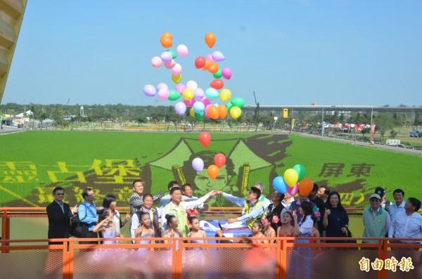 熱帶農業博覽會21日開幕,彩稻、花海陪你過新年(記者葉永騫攝)