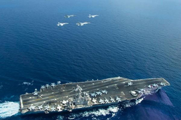 美國航空母艦「卡爾文森號」。 (法新社資料照)