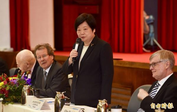 政務委員林美珠20日主持國家人權報告審查會議的結論性意見與建議發表記者會。(記者羅沛德攝)