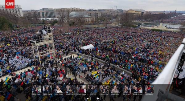 CNN網站公布了一張10億像素的典禮全景照片。(圖擷取自CNN網站)