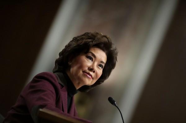 美國參議院商務、科學和運輸委員會投票一致批准趙小蘭提名為運輸部長。(法新社資料照)