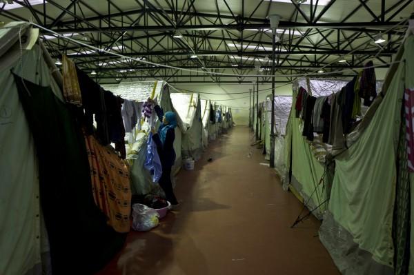 位於希臘北部的敘利亞難民營。(美聯社)