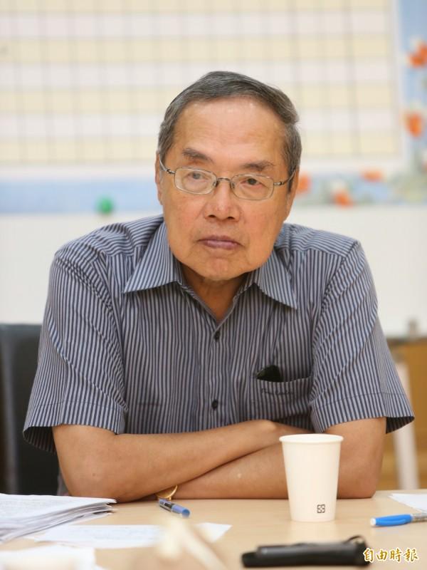 政大教授陳芳明表示,吳敦義反對同婚修法的行為,代表著他不知道什麼是民主。(資料照,記者陳逸寬攝)
