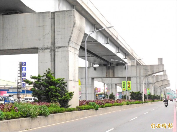 A5a站預定站址位在新北大道五段二八七巷口附近,為免二次施工,在機場捷運線施工時就已預設站體空間。 (記者李雅雯攝)