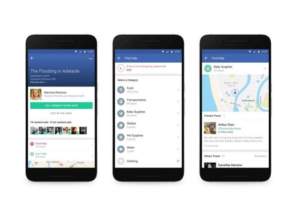 Facebook今天宣布,原本發生天災時會啟動的「平安通報站」,新增「Community Help」功能,將提供用戶於災難發生後尋求或提供援助的溝通平台。(Facebook提供)
