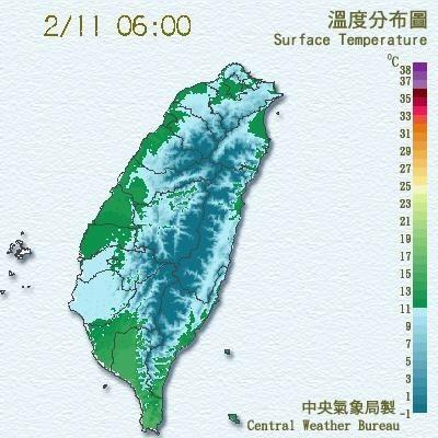 南區氣象中心測得11日凌晨4點許,台南市區出現入冬最低溫9.7度。(圖擷自南區氣象中心網站)