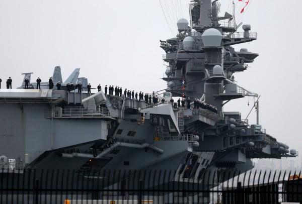 美軍的航空母艦卡爾文森號於1月出發後,已於本月10日抵達位於日本的關島基地,外界預測卡爾文森號將參加3月的美韓軍演。(路透)