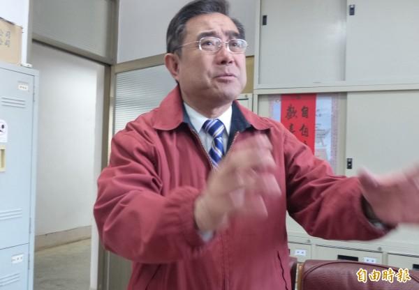 金門縣副縣長吳成典表示,縣府堅決反對核廢料放在金門屬地。(記者吳正庭攝)