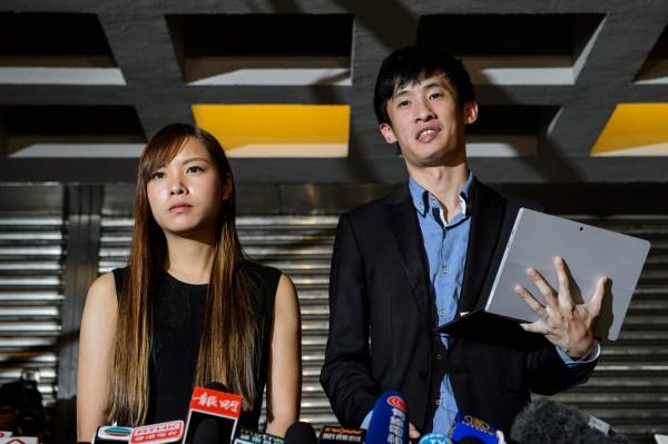 梁頌恆及游蕙禎因立法會宣誓風波,被取消議員資格,兩人就宣誓司法覆核案,今(13)日直接向終審法院申請上訴。(法新社)